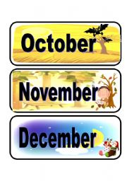 Calendar flashcards set 4