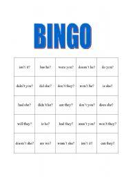English Worksheets: Tag Question Bingo