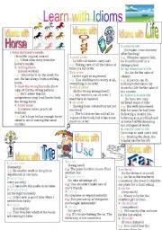 English Worksheets: Learn with Idioms(Part2)