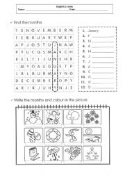 English Worksheet: Moths crossword