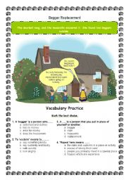 English Worksheets: Beggar Replacement - Made by Luana Vieira