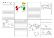 English Worksheets: Miny book little red riding wood