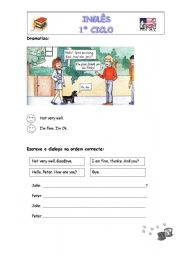 English Worksheets: How are you?