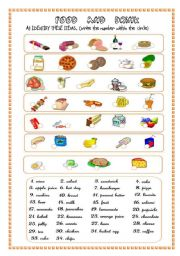 English Worksheet: FOOD AND DRINKS 1ST PART