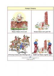 English Worksheets: Humpty Dumpty story 1 sheet