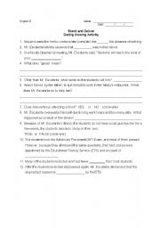 Stand and deliver essay questions