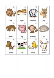 English Worksheets: Animals Old Maid Card Game