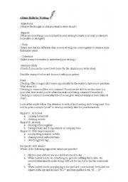 English Worksheets: 4 Basic Skills for Writing