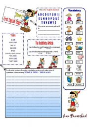 English Worksheets: English First Steps    STEP 1