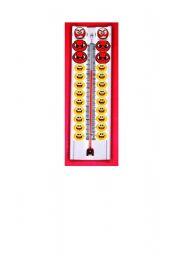 English Worksheets: behaviour termometer