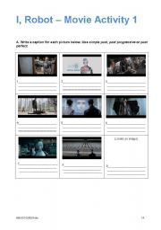 English Worksheet: I, Robot - Movie Activity 1