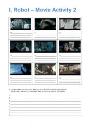 English Worksheet: I, Robot - Movie Activity 2