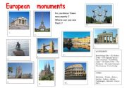 English Worksheets: European mouments