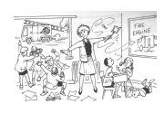 English Worksheets: noisy class