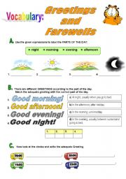 English Worksheet: Greetings and Farewells