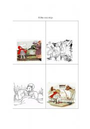 English Worksheets: red riding hood comic