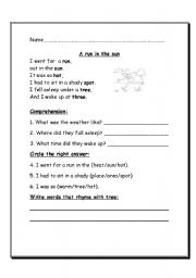 Worksheet Poetry Worksheets english teaching worksheets poetry comprehension