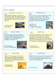 English Worksheets: 4 SKILLS - Let�s Travel (Part 2)