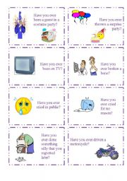 English Worksheet: HAVE YOU EVER...? 1/5