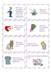 English Worksheet: HAVE YOU EVER...? 3/5