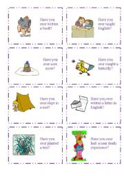 English Worksheet: HAVE YOU EVER...? 4/5