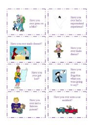 English Worksheet: HAVE YOU EVER...? 5/5
