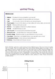 English Worksheets: Writing checks