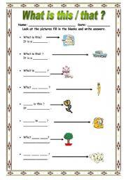 what is this/that - ESL worksheet by bburcu