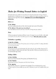 rules for writing a formal essay