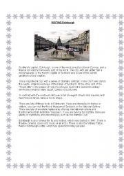 English Worksheet: Visiting Edinburgh