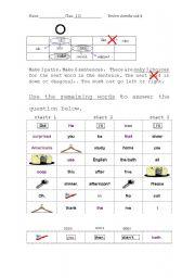 word game building sentences reveal the secret sentence. Black Bedroom Furniture Sets. Home Design Ideas