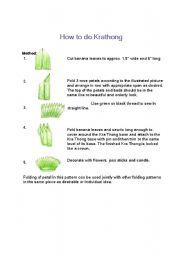 English Worksheets: How to make Krathong