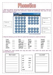 English Worksheet: Introduction to PHONETICS