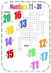 Numbers from 11 to 20 esl worksheet by angelamoreyra english worksheet numbers 11 20 ibookread Read Online