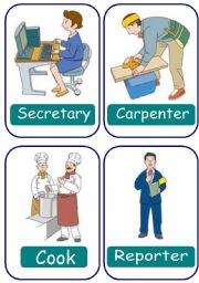 English Worksheet: OCCUPATIONS (36 FLASHCARDS)