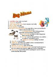 English Worksheets: Dog Idioms