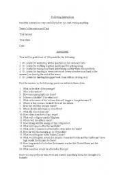 English Worksheet: tsunami vocabulary and comprehension exercise