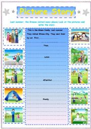 English Worksheet: Writing  :  A Picture Story  ( I )