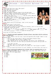 English Worksheet: Friends Season 2, Episode 14
