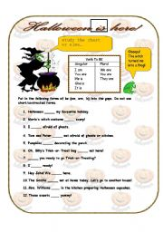 English Worksheets: Halloween IS here!