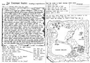 English Worksheet: The Treasure Island: Reading Comprehension