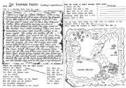 English teaching worksheets: Treasure island