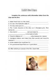 Rabbit Proof Fence Worksheet - ESL worksheet by clara7santos