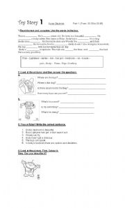 English Worksheets: Toy Story Part 1