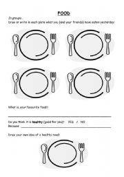 English Worksheet: Food (intro - quiz)