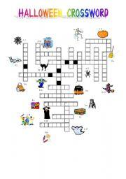 English Worksheets: halloween crossword