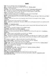 English Worksheets: Build