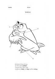 English Worksheets: parts of a bird