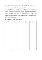 english worksheets crime related vocabulary sheet. Black Bedroom Furniture Sets. Home Design Ideas