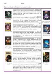 English Worksheets: Science Fiction movie Plots